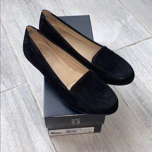 🆕 Naturalizer Saban Black Suede Flats / Loafers